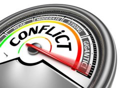 Conflict Meter Isolated on White Background