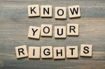 Know your rights sign.