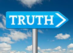 Road sigh saying the word truth
