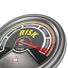 Risk Dial Meter Indicator