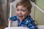 Toddler Crying in Cot