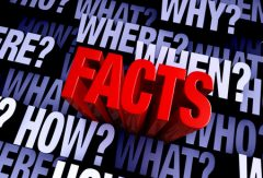 """Red facts filled with """"who"""", """"what"""", """"where"""", """"when"""", """"how"""", and """"why"""" at different depths."""