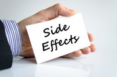 Side-effects text on card.