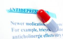 Pill on antidepressant factsheet