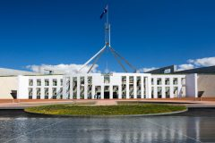 The Parliament of Australia in Canberra, Australian Capital Territory, Australia