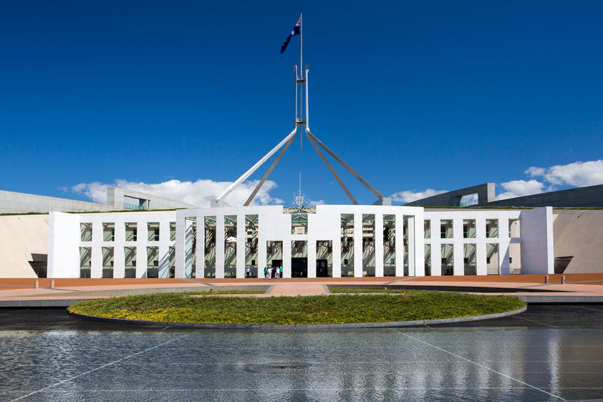 The Parliament of Australia in Canberra, Australian Capital Territory, Australia